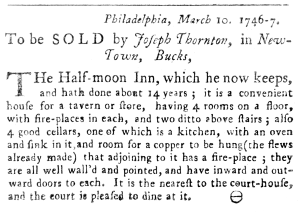 Phila. Gazette, March 1746