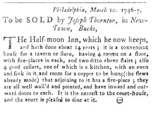 Phila. Gazette, March 1746
